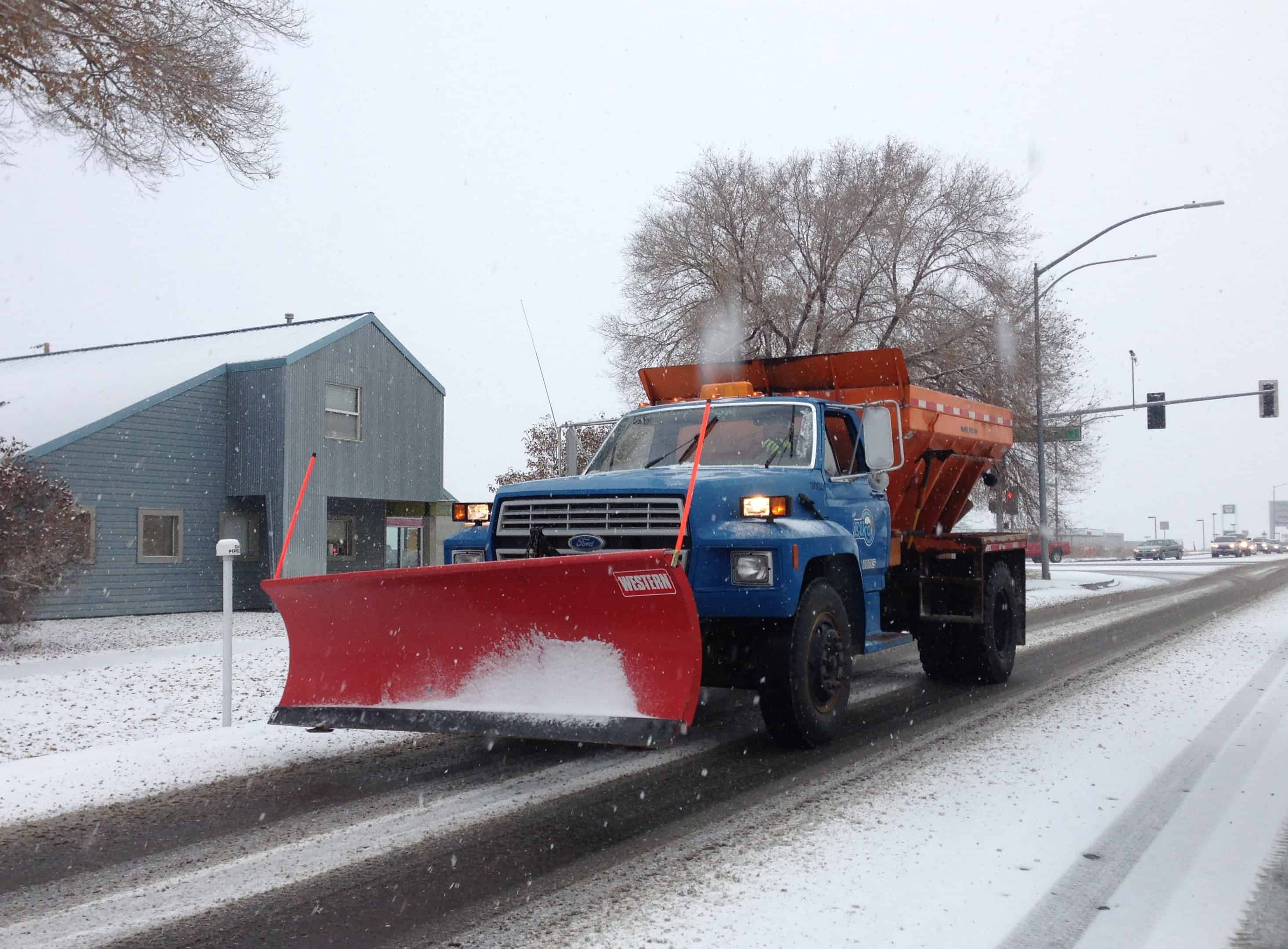 Patrick's Mobile snow plow truck clearing London Ontario streets